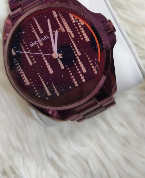 Relogio Michael Kors Mkt5017 Access Digital Roxo Smartwatch