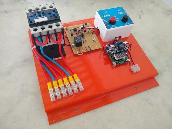 Sistema De Transferência Automática Solar E Rede 220v 32a