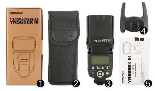 Flash Canon Yongnuo Funçao Ttl Yn 565 Iii 3 Lançamento Top