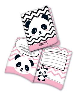 Convite Panda 24 Unidades