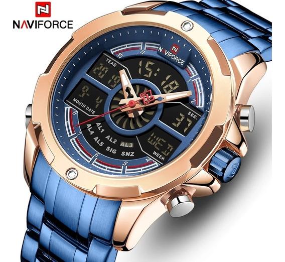 Relógio Masculino Naviforce Original Multifunções Nf9170