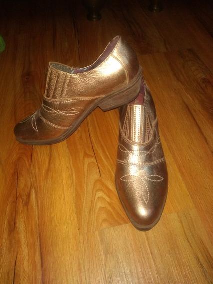 Zapatos Suecos Botas Texanas Caña Baja A Estrenar