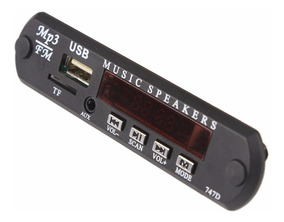 Placa Decodificador Usb P/ Caixa Ativa Mp3 Fm Aux