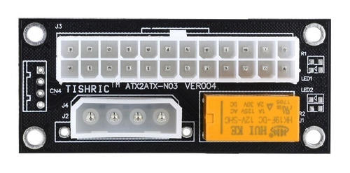 Imagem 1 de 3 de Adaptador Para Ligar Duas Fontes Atx Add2psu Molex / Sata