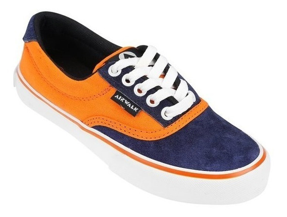 Zapatillas Airwalk Ntx Naranja Azul Marino Liquidación !