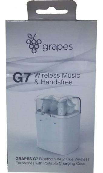 Fone De Ouvido Sem Fio Bluetooth Grapes G7 Original