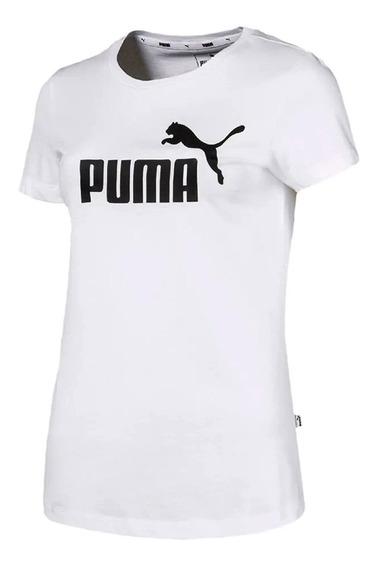 Remera Puma Running Essential Logo Mujer Bl