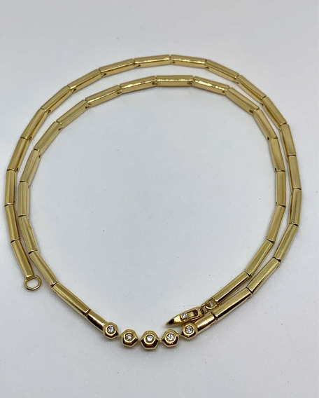 Glitter Joias - Colar H Stern Ouro E 8 Pontos Diamantes
