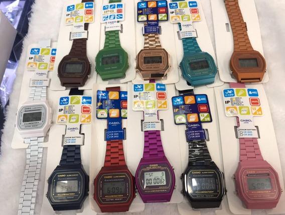 Reloj Casio Modelo Clasico Digital Cromado Dama Y Caballero