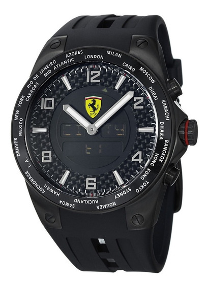 Reloj Ferrari World Time Casio Nautica Invicta Guess Bulova