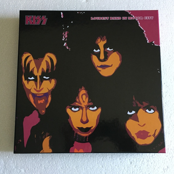 Kiss Lp Box Loudest Band In Motor City 4 Picture Vinil 1983