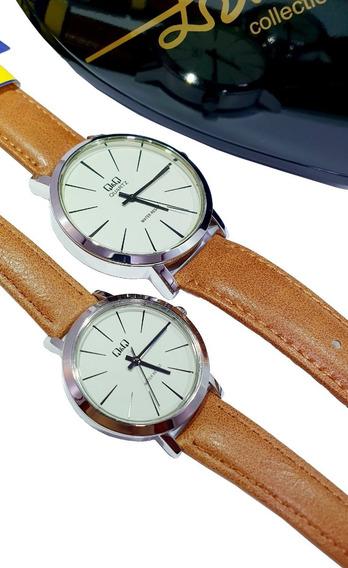 Reloj Q&q By Citizen Duo Hombre Mujer Pareja Original Nuevos