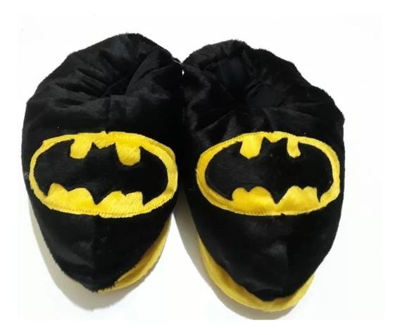 Pantufa Super Herói Batman Com Solado Emborrachado