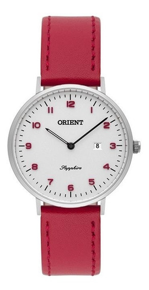 Relógio Feminino Orient Fbscs0003 S2vx Couro Vermelho