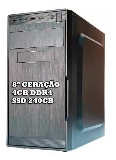 Cpu Core I3 8100 - 4gb 2400mhz Ddr4 - Hd Ssd 240gb Promoção