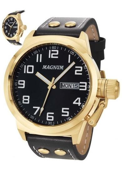 Relógio Masculino Pulseira De Couro Ma32756u Magnum Nfe