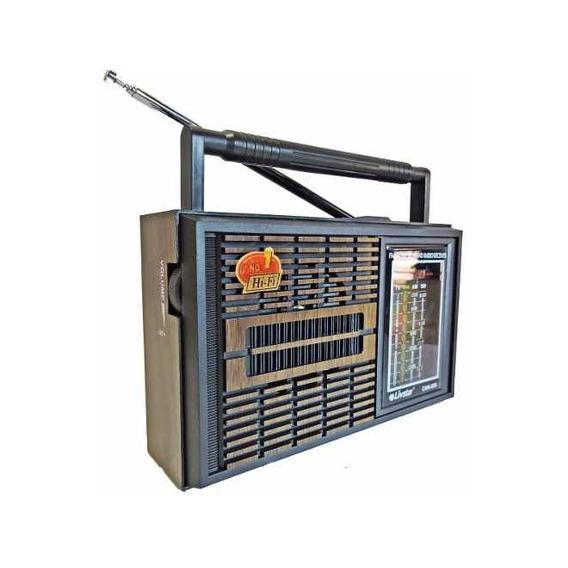 Radio Am Fm Sw Antigo Retro Com 4 Bandas Pilhas E Energia Bi