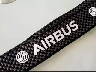 2 Porta Credencial Airbus O Boeing Carbón A Elegir
