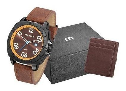 Kit Relógio Masculino Mondaine 76689gpmvph1k1 Couro