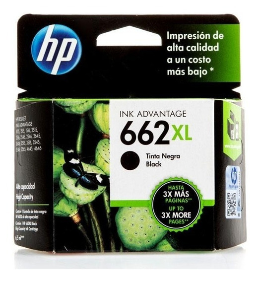 Cartucho Hp 662xl Negro Cz105al Original
