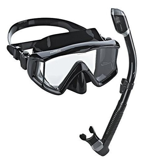 Deportes acuáticos Phantom Aquatics Aleta de Legendario máscara Snorkel Set con Bolsa de Malla