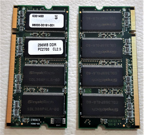 2 Ddr 333 256mb Pc2700 Simpletech P/ Notebooks