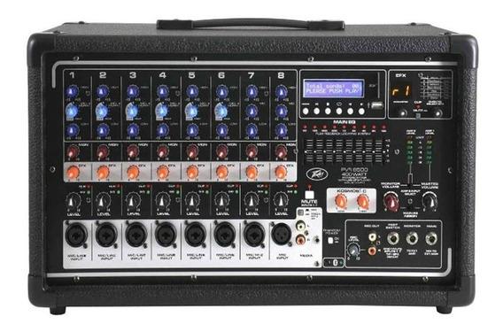 Mesa De Som Cabeçote Amplificado 8 Canais Peavey Pv 8500