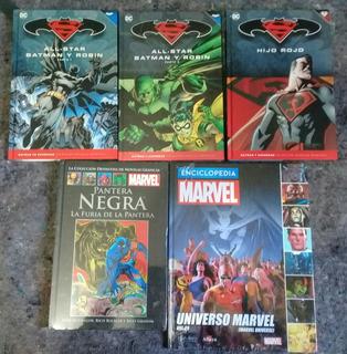 Libros Batman Y Superman, Tapa Negra, Enciclopedia Marvel
