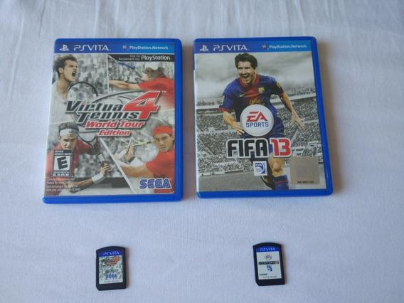 2 Jogos Para Ps Vita Fifa 13 Virtua Tennis 4 Usados