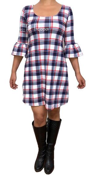 Vestido Corto Escotado Falda Rotonda Suelto Bolero Juvenil