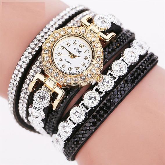 Relógio Feminino Ccq Pulseira Bracelete Festas E Presente