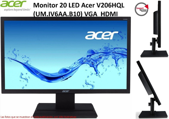 Monitor 20 Led Acer V206hql (um.iv6aa.b10) Vga Hdmi