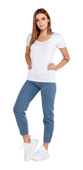Calça Jeans Feminina Modelagem Mom Latifundio Azul