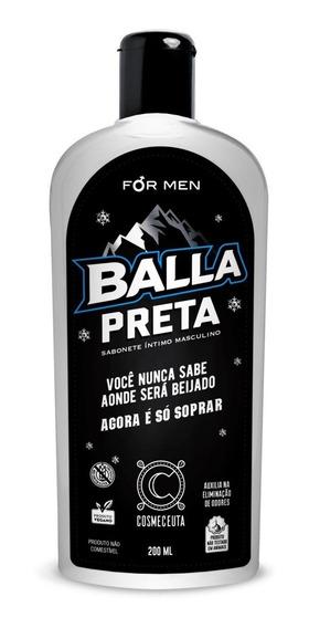 Sabonete Íntimo Masculino Balla Preta 200ml Cosmeceuta