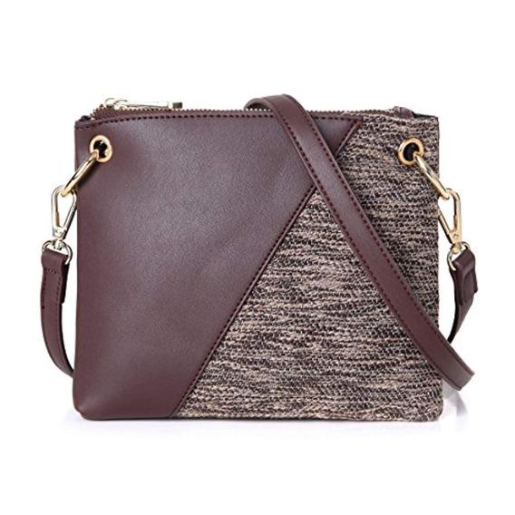 Aitbags Double Zip Handbag Crossbody Bolsos