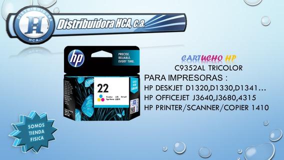 Cartucho Hp 22 Tricolor Original C9352al