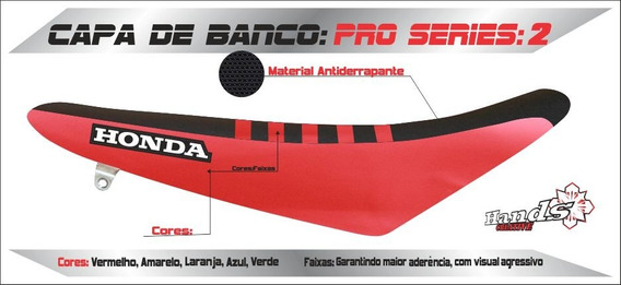 Capa De Banco Motos Honda - Crf Cr Tornado Bros Xr 200 Crfx