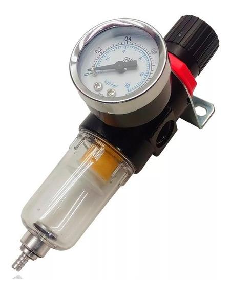 Filtro De Ar Para Compressor Com Regulador De Pressão 1/4