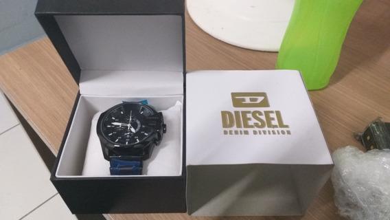 Relógio Diesel Esportivo Preto E Azul Zerado Novinho Lindo
