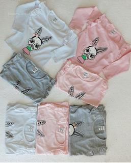 Pack X5 Camiseta De Beba De Algodon Con Diseño M 3
