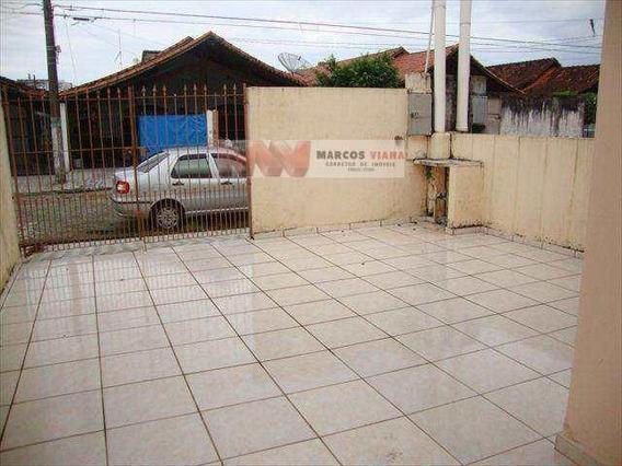 Casa Com 2 Dormitórios Para Alugar, 70 M² Por R$ 1.200,00 - Tupi - Praia Grande/sp - Ca0369
