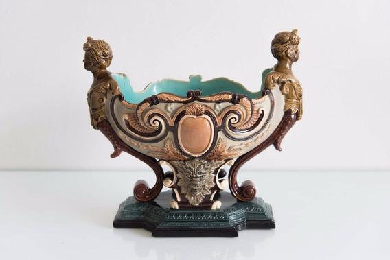 Centro De Mesa De Mayolica Italiano Estilo Art Nouveau