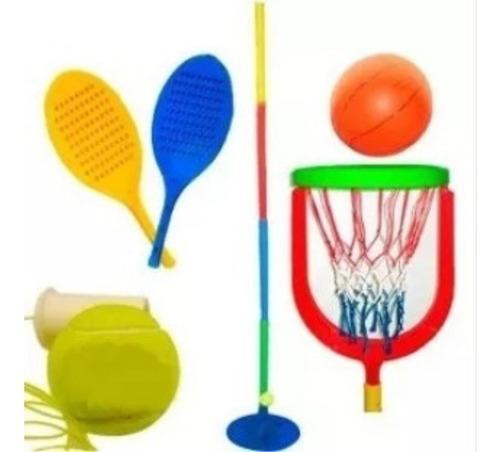 Tenis Orbital + Accesorio De Basquet Pelota Basket Serabot