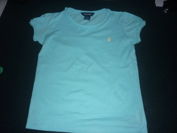 Espectacular!! Remera Nena M/c Orig. Polo Girl - T6x