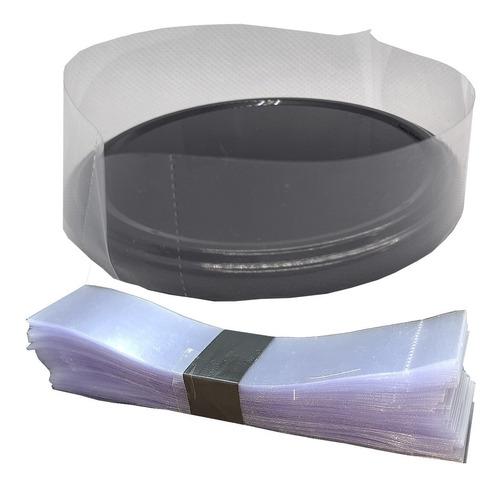 100 Lacre Termoencolhiveis Pote Plástico Diâmetro 125mmx38mm