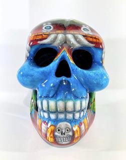 Casco Cráneo Mexicano Vestuario Adulto Serpiente