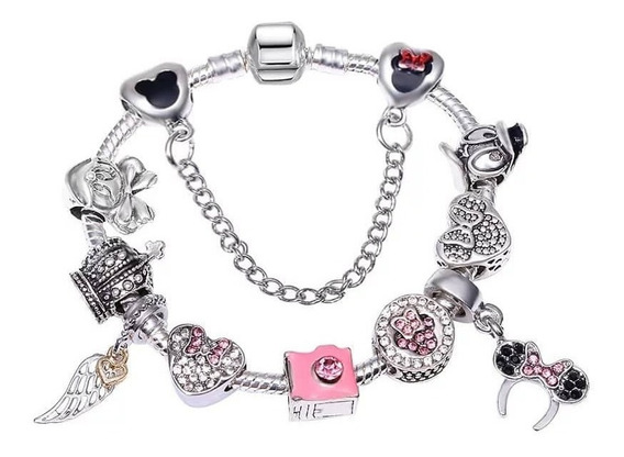 Pulseira Pandor Berloque Angel Rose