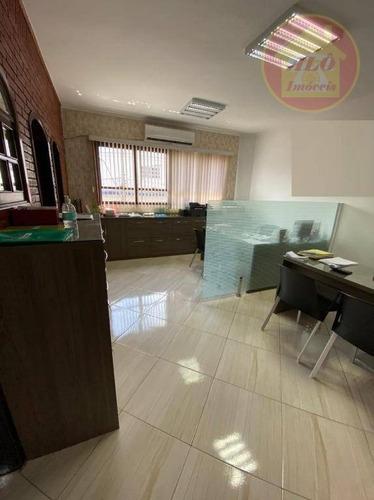 Sala À Venda, 48 M² Por R$ 130.000,00 - Ocian - Praia Grande/sp - Sa0047