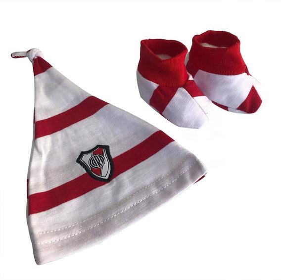 Gorrito Y Escarpin River Plate Licencia Oficial