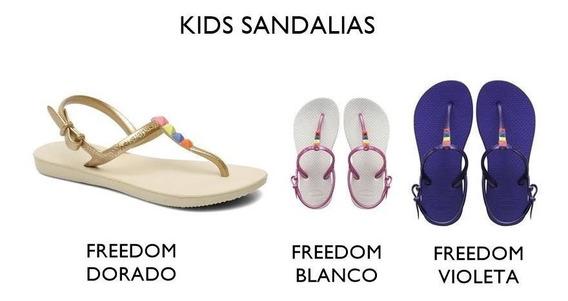 Ojotas Havaianas - Modelo Kid Freedom Blanco